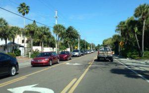 Four- to three-lane conversion