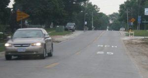 Speed-limit pavement legend