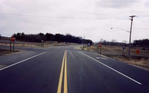 Roadway lighting at a rural intersection