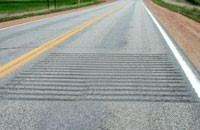 Transverse rumble strips