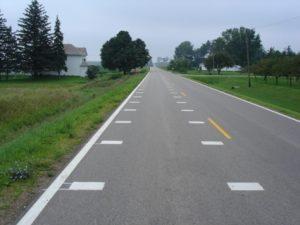 Transverse lane markings